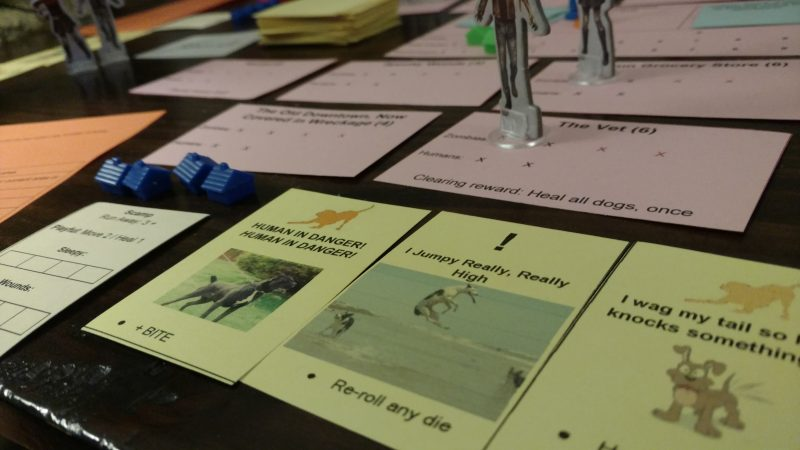Early good dog, bad zombie prototype playtest.
