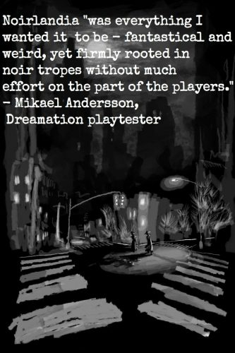 noirart with test quote