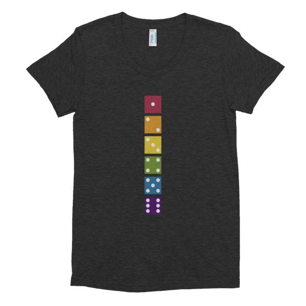 D6 Rainbow (Women's Tri-blend Tee)