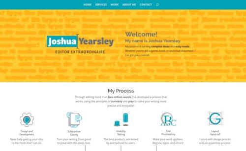 Joshua Yearsley website screenshot
